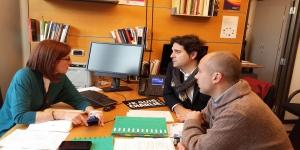 Pagaza con los candidatos de Cantabria